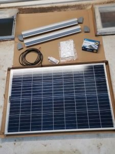 fitting a solar panel to a caravan