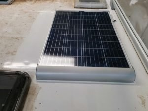 fitting a solar panel to a motorhome
